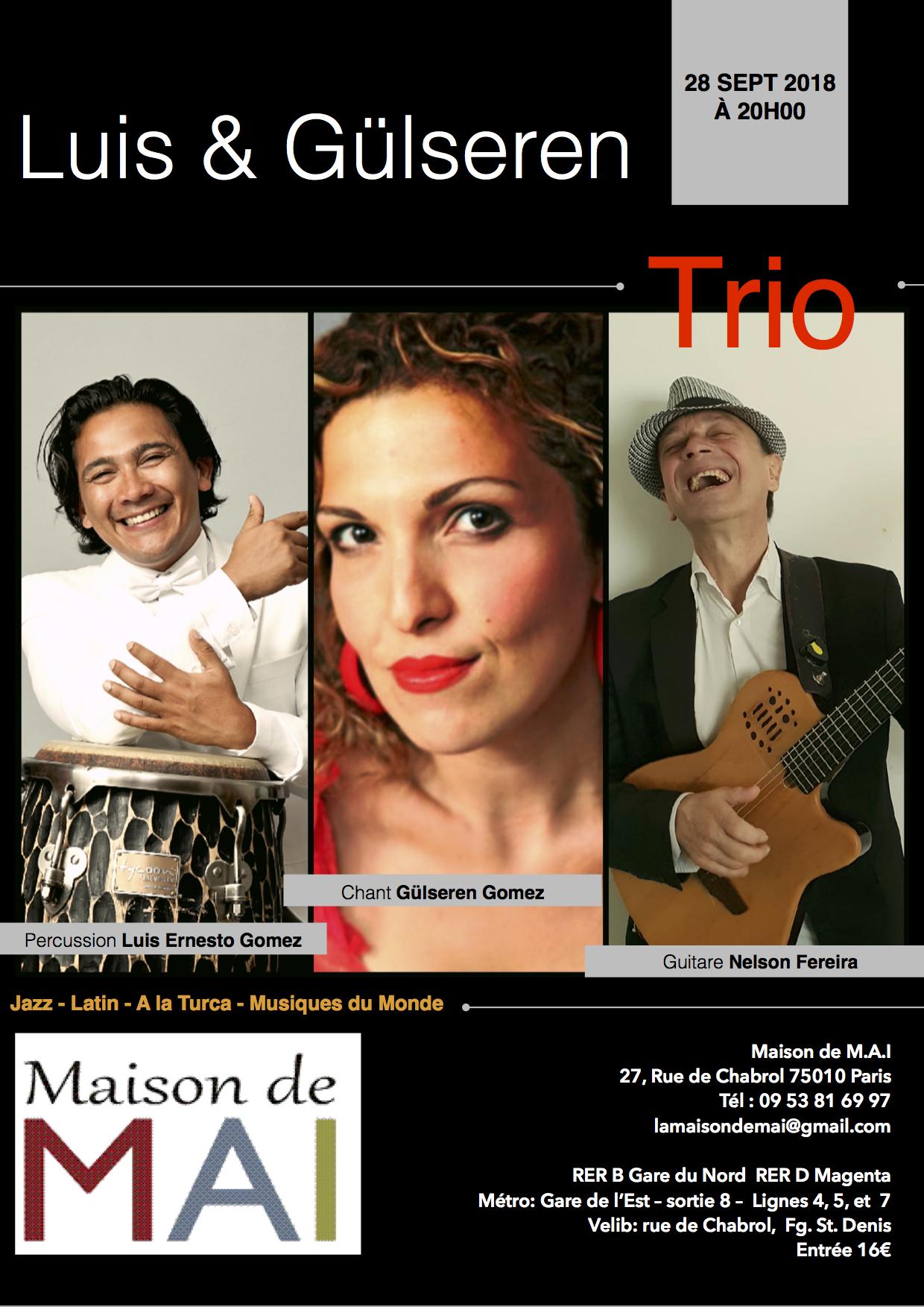Concert Luis et Gülseren Trio à Paris