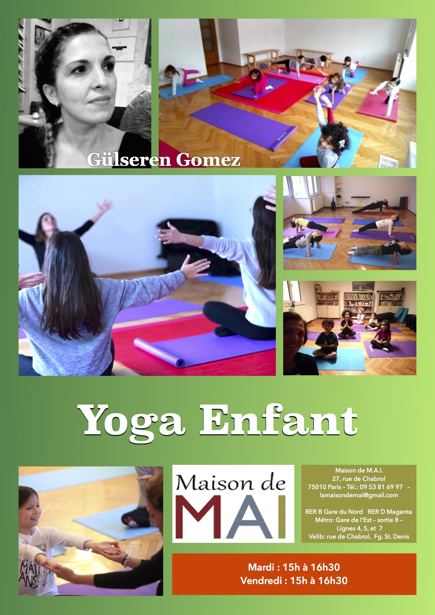 Yoga pour enfants Paris 10e